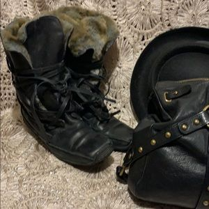 Browns Couture Leather boots/Italy